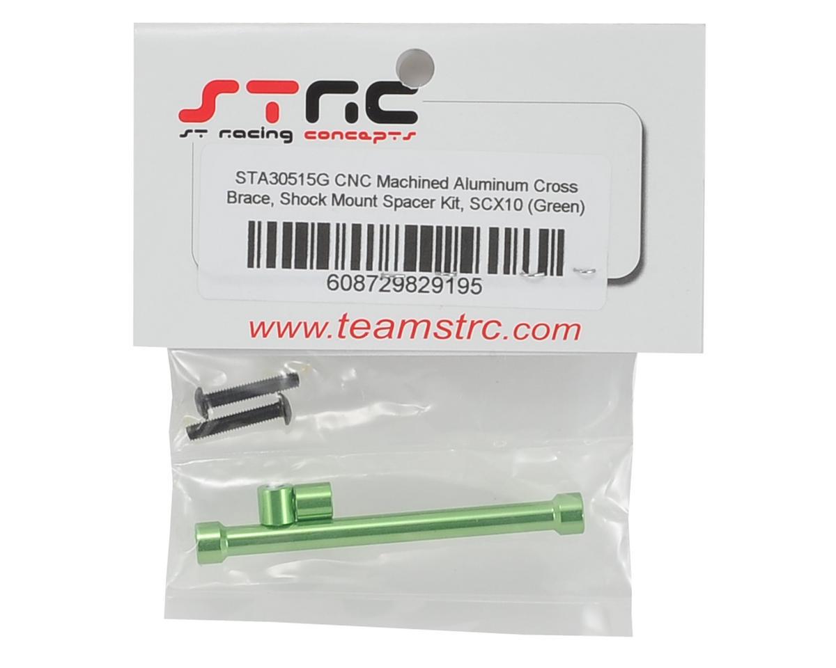 ST Racing Concepts SCX10 Aluminum Cross Brace & Shock Mount Spacer Kit (Green)