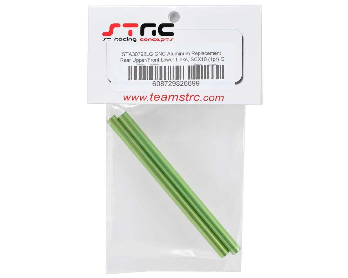 ST Racing Concepts SCX10 Aluminum Rear Upper/Front Lower Links (2) (Green)
