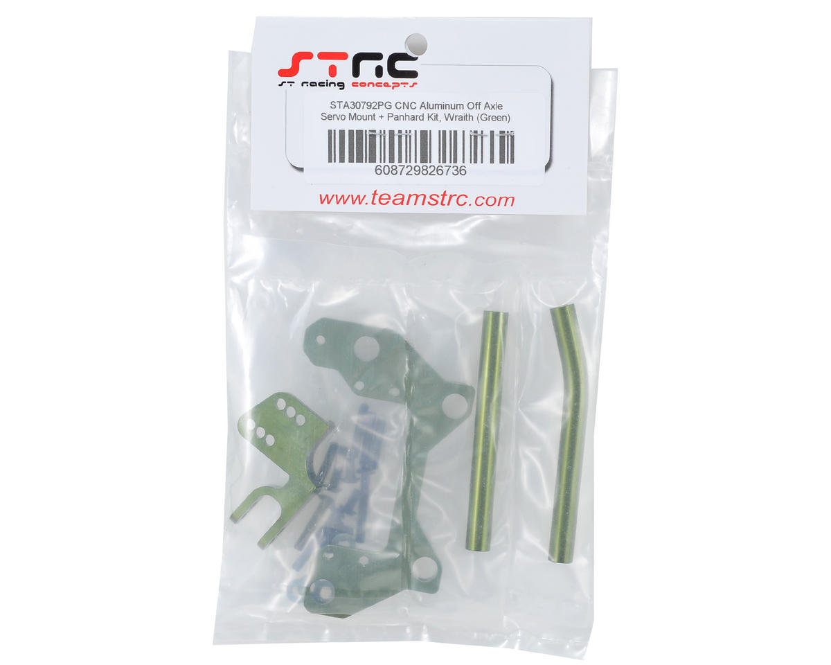 ST Racing Concepts Wraith Aluminum Off Axle Servo Mount & Panhard Kit (Green)