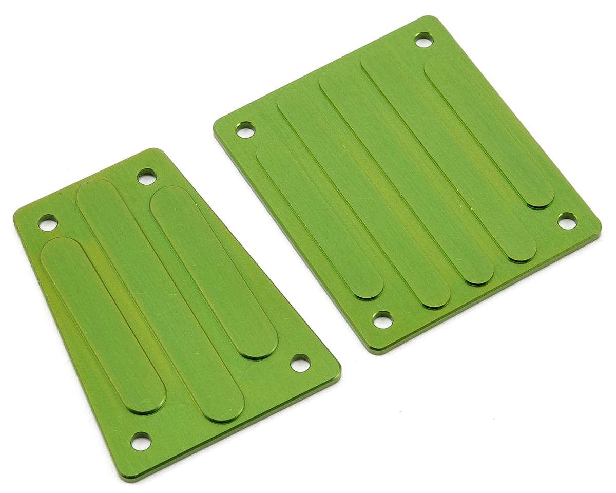 ST Racing Concepts Aluminum Front & Rear Skid Plate Set (Green)