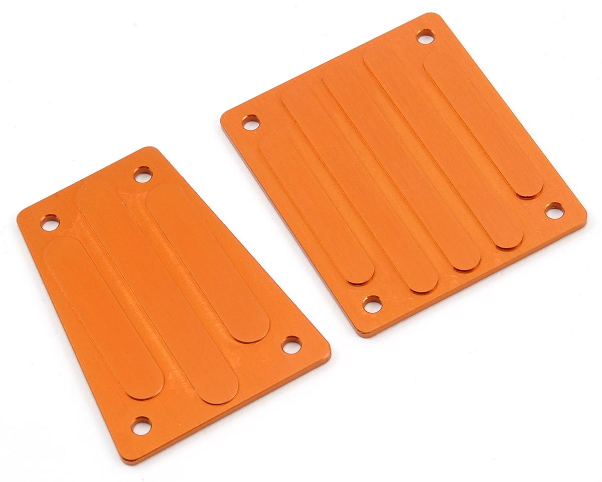 ST Racing Concepts Aluminum Front & Rear Skid Plate Set (Orange)