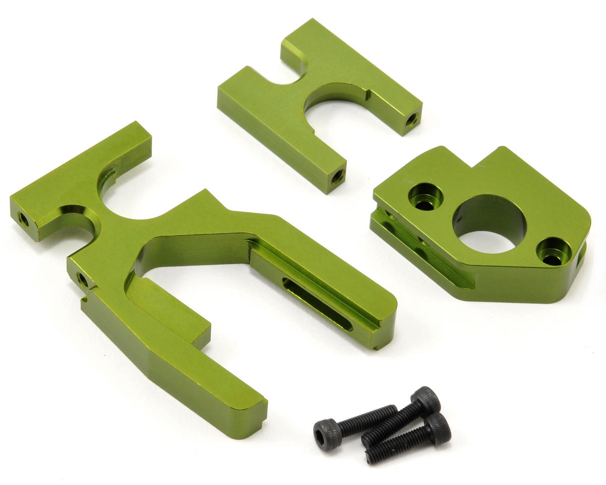 ST Racing Concepts Aluminum Motor Mount/Center Bulkhead Combo Set (Green)
