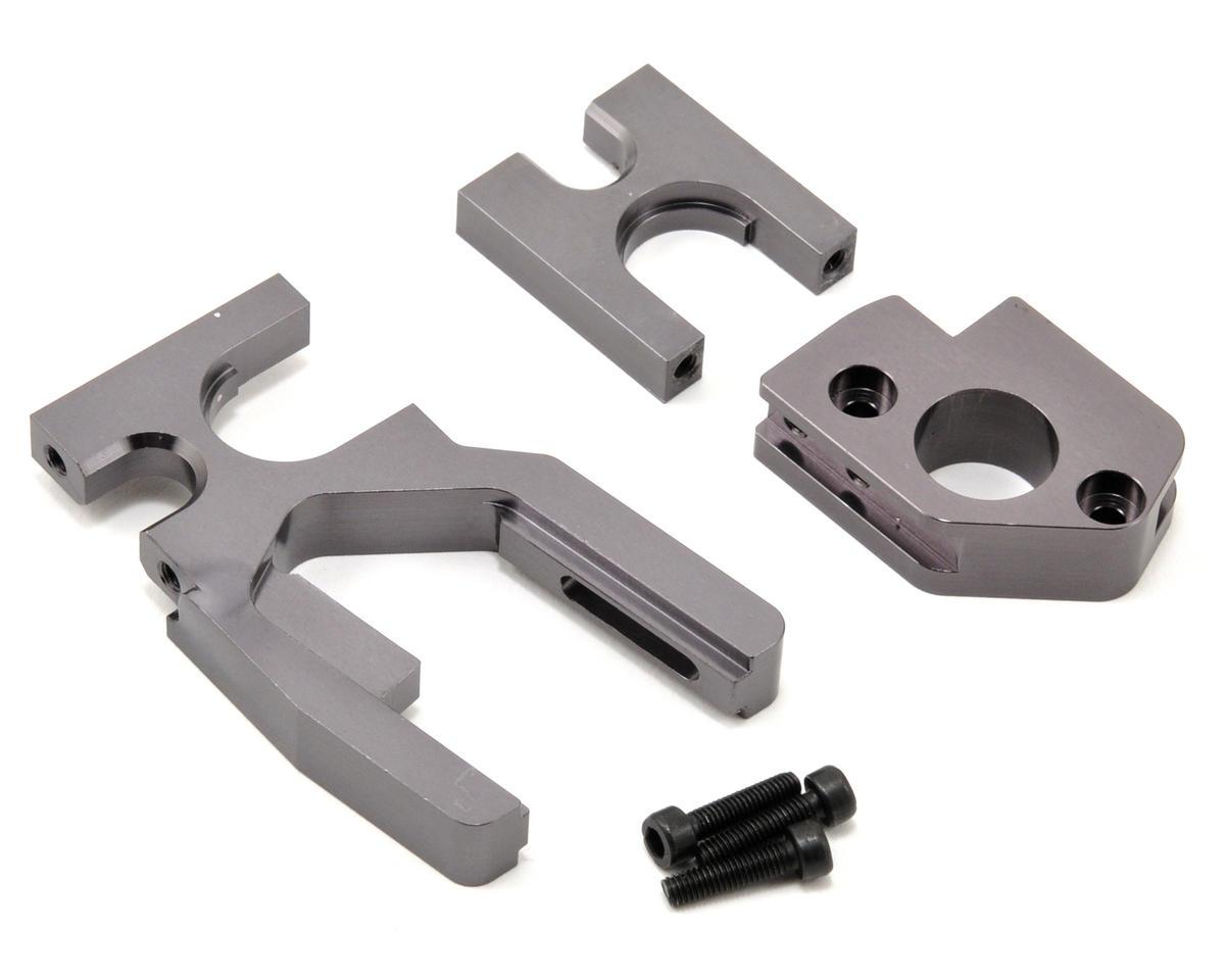 ST Racing Concepts Aluminum Motor Mount/Center Bulkhead Combo Set (Gun Metal)