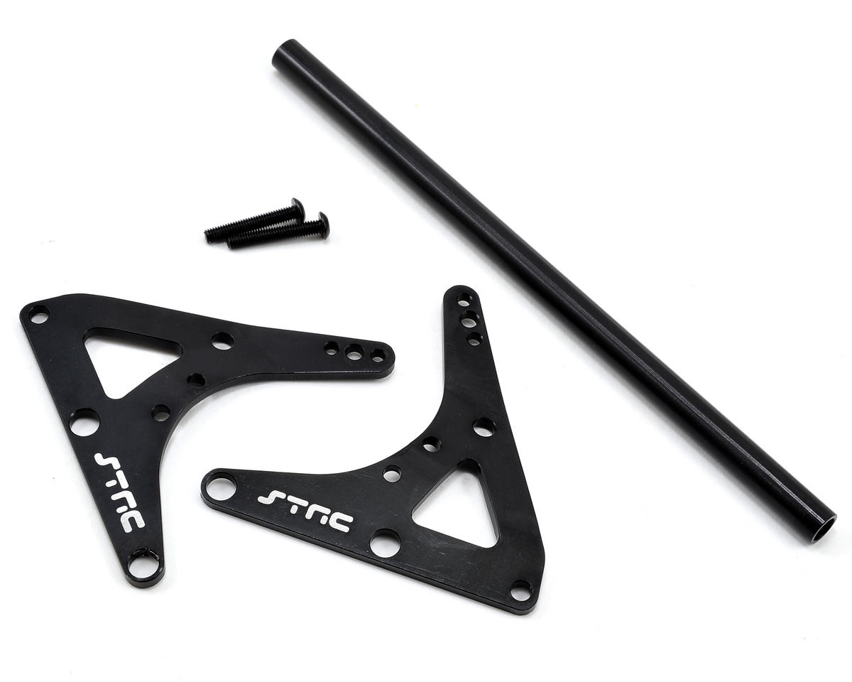 Rear Upper Shock Bracket & Center Roll Cage Stiffener (Black) by ST Racing Concepts