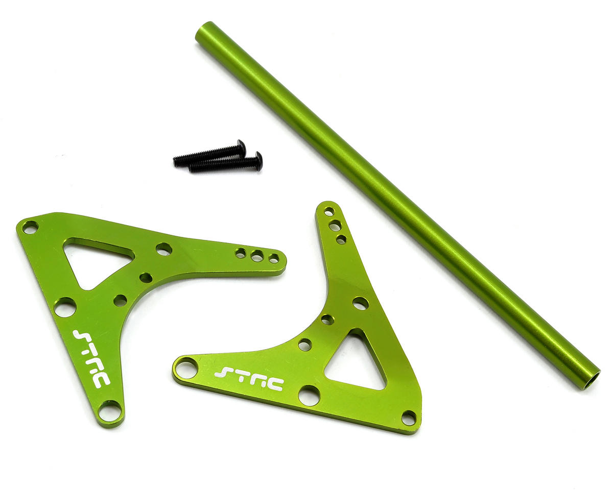 Rear Upper Shock Bracket & Center Roll Cage Stiffener (Green) by ST Racing Concepts