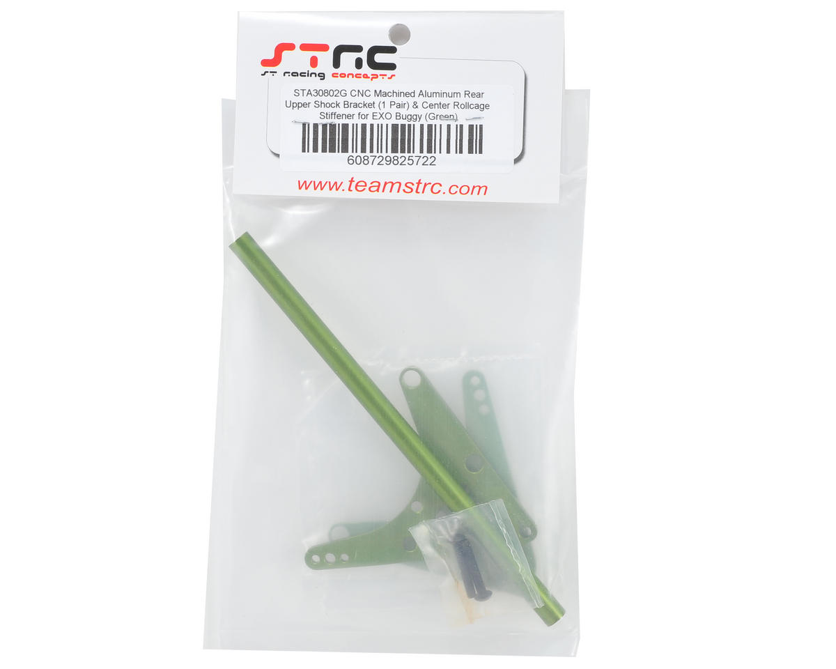 ST Racing Concepts Rear Upper Shock Bracket & Center Roll Cage Stiffener (Green)