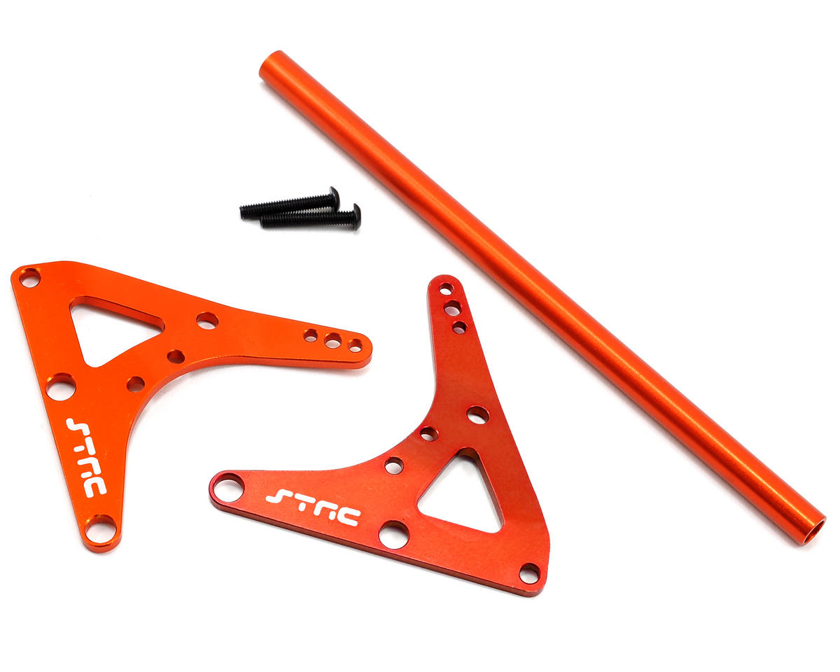 Rear Upper Shock &Bracket Center Roll Cage Stiffener (Orange) by ST Racing Concepts