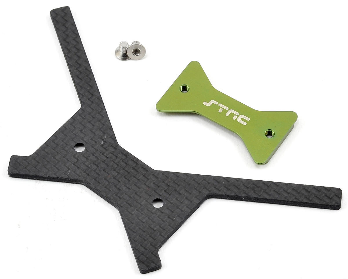 ST Racing Concepts Aluminum/Graphite Battery Plate (Green)