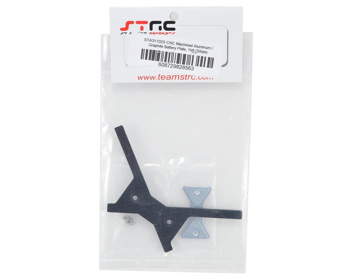 ST Racing Concepts Aluminum/Graphite Battery Plate (Silver)
