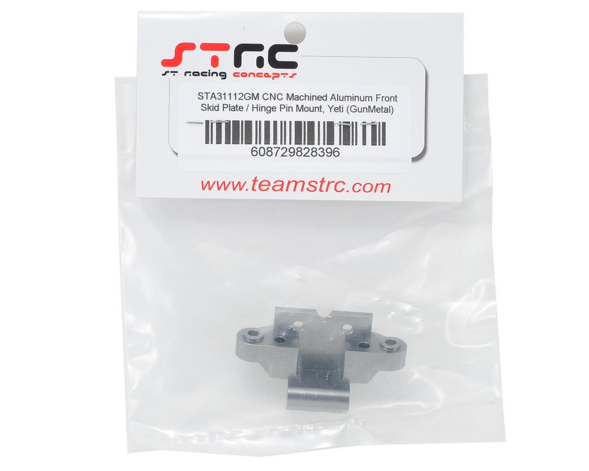 ST Racing Concepts Yeti Aluminum Front Skid Plate/Hinge Pin Mount (Gun Metal)