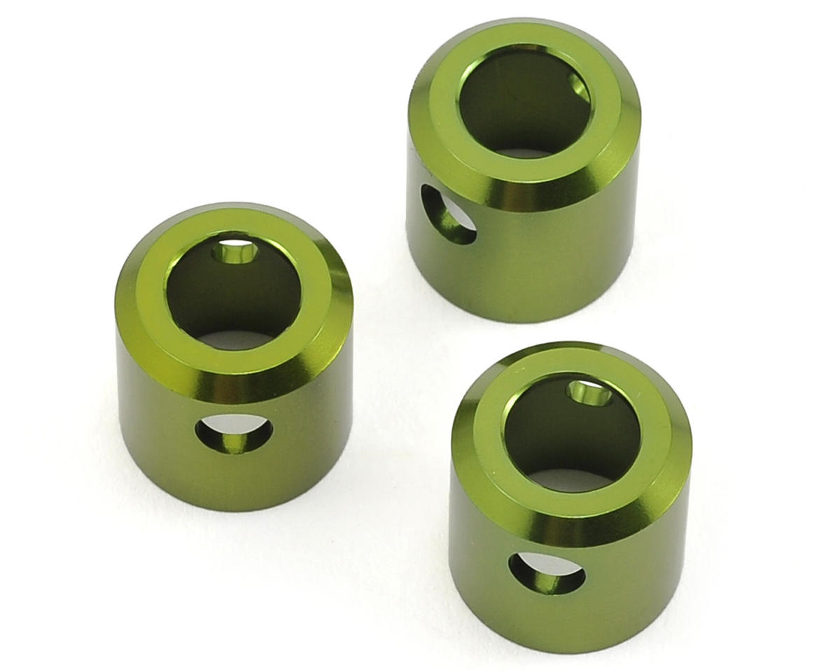 Aluminum Driveshaft Cups (3) (Green) by ST Racing Concepts