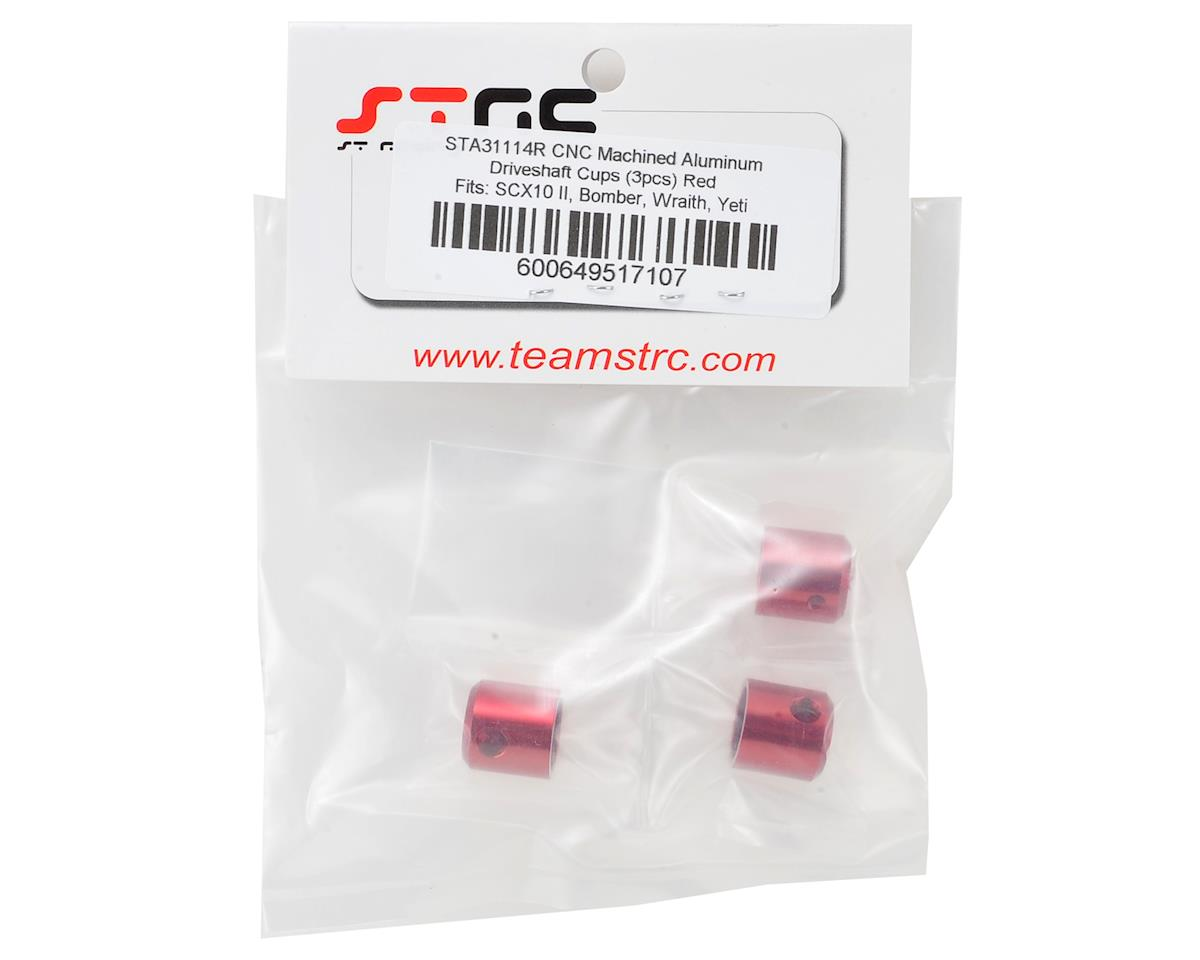 ST Racing Concepts Aluminum Driveshaft Cups (3) (Red)