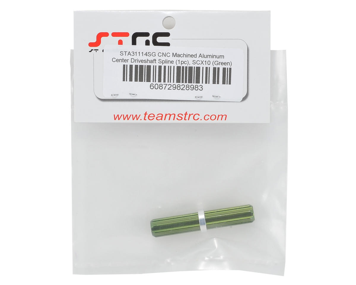 ST Racing Concepts Aluminum Center Driveshaft Spline (Green)