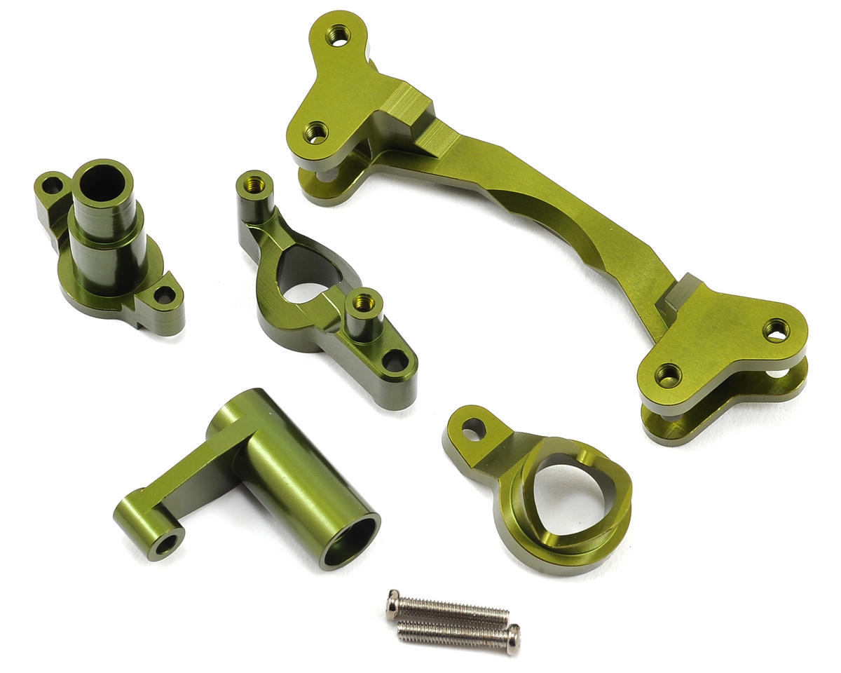 ST Racing Concepts Aluminum HD Steering Bellcrank Set (Green)