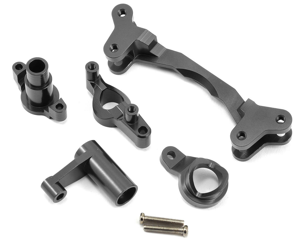 ST Racing Concepts Aluminum HD Steering Bellcrank Set (Gun Metal)