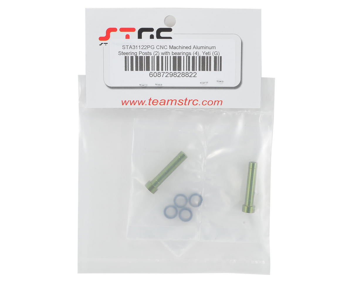 ST Racing Concepts Aluminum Steering Posts w/Bearings (Green)
