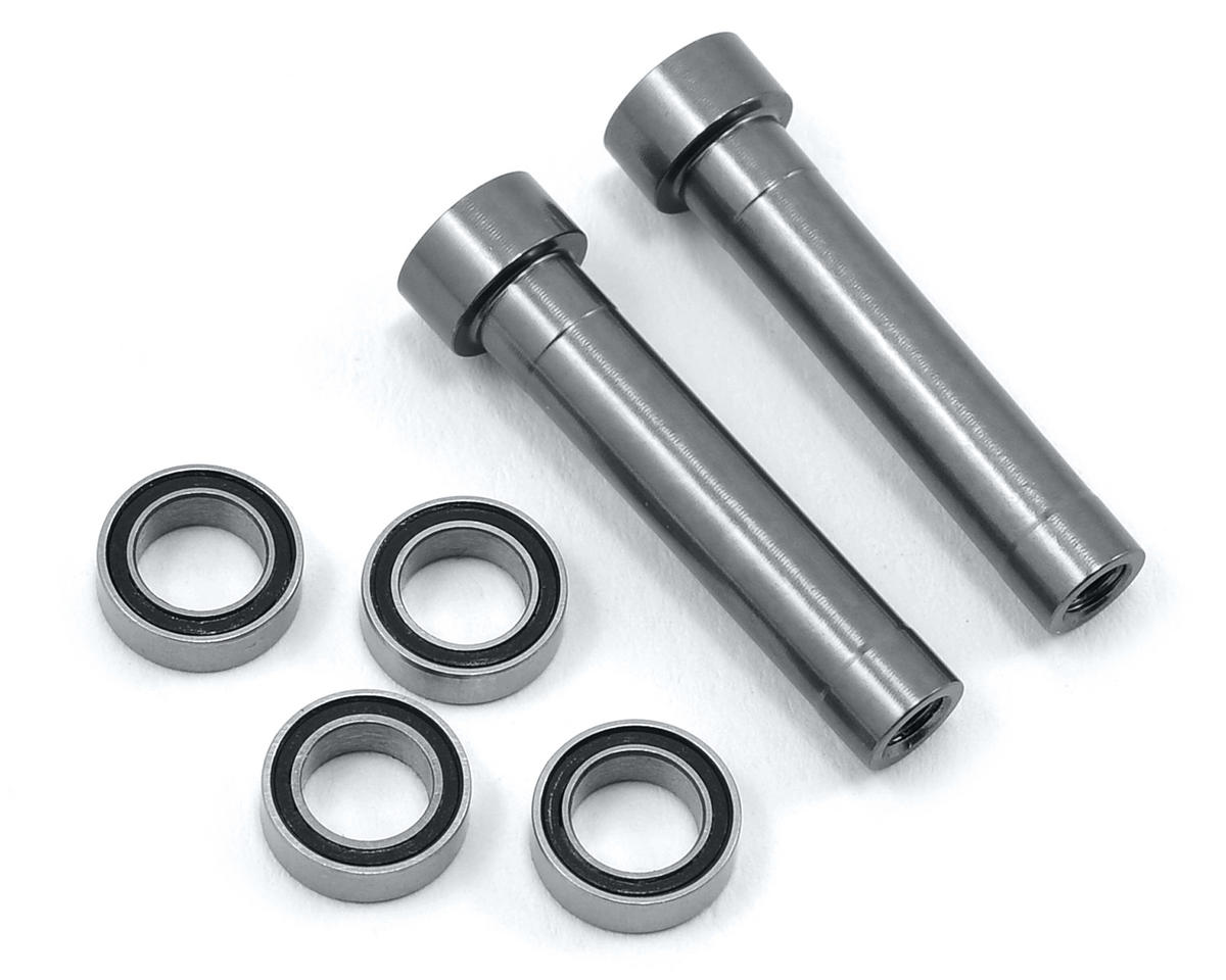 Aluminum Steering Posts w/Bearings (Gun Metal) by ST Racing Concepts