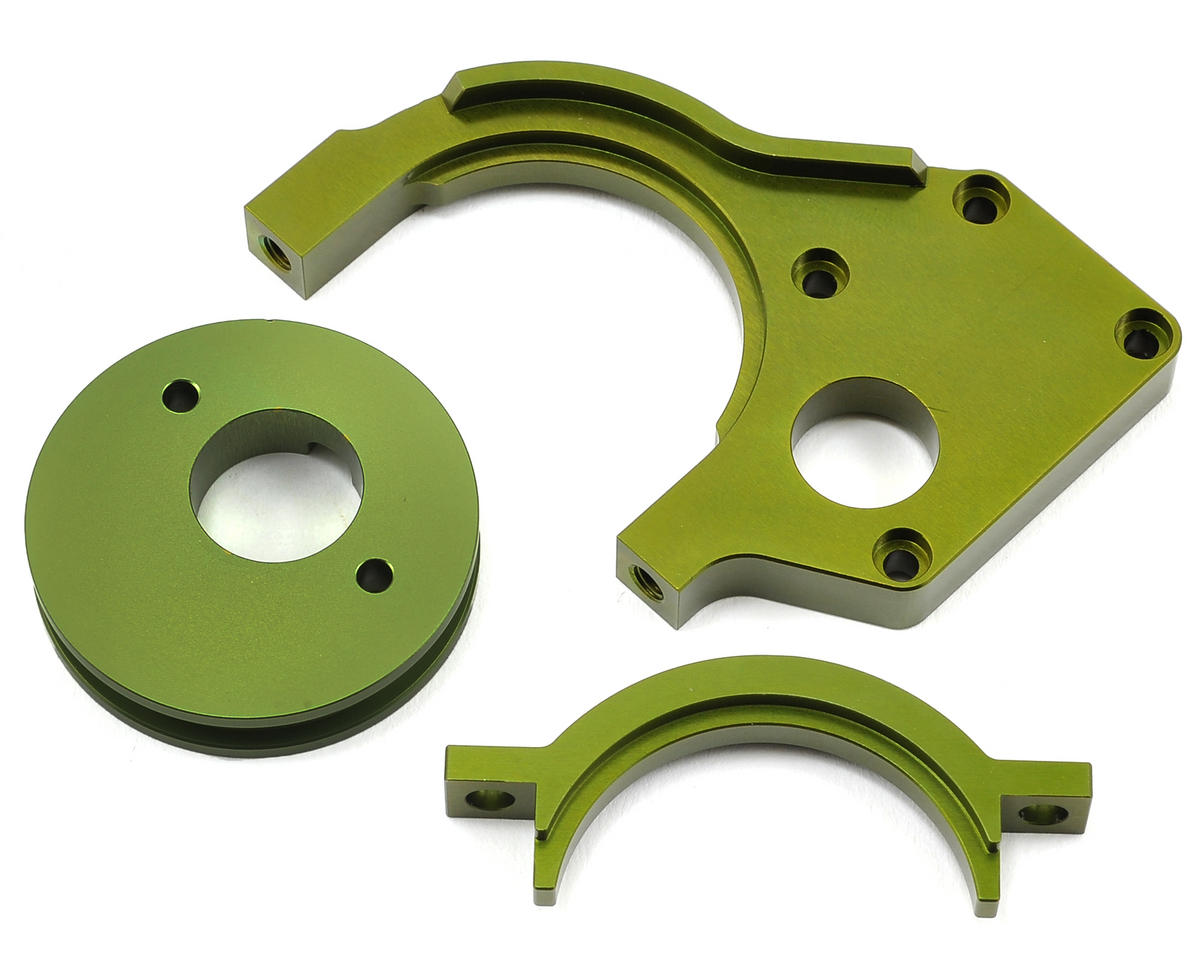 Aluminum Motor Mount/Motor Cam Combo (Green) by ST Racing Concepts