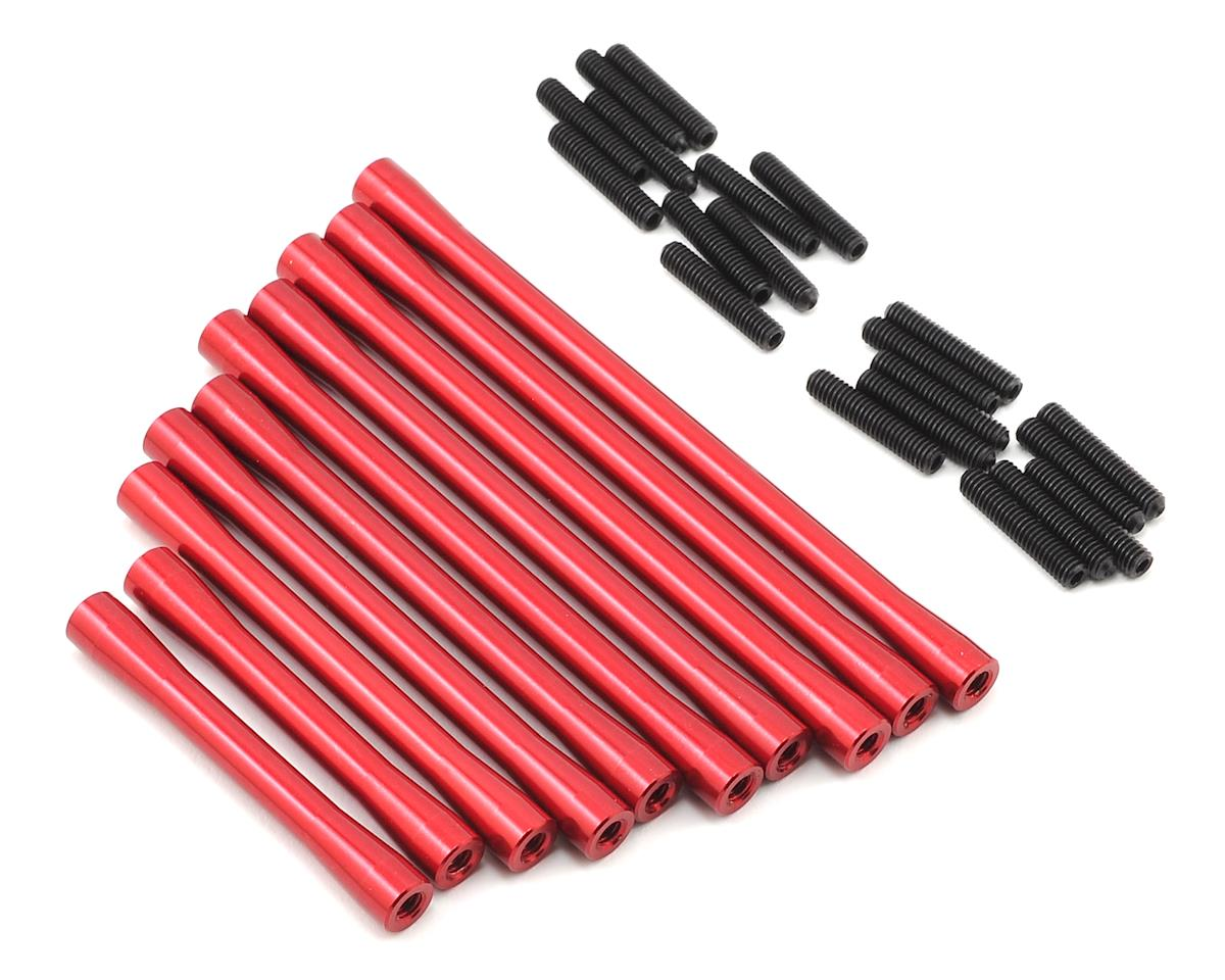SCX10 II RTR HD Suspension/Steering Link Set (10) (Red) by ST Racing Concepts
