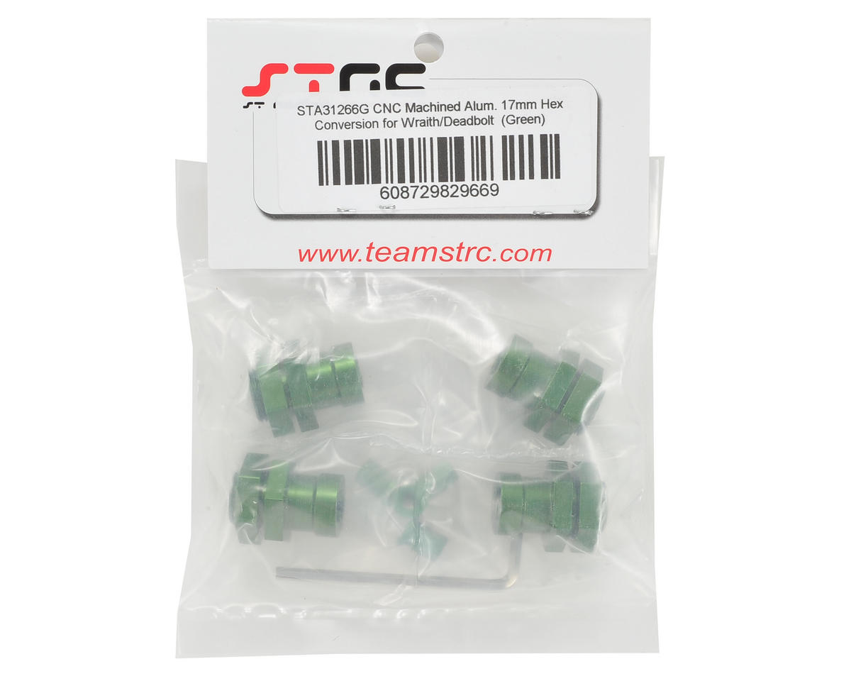 ST Racing Concepts Wraith Aluminum 17mm Hex Conversion Kit (Green)