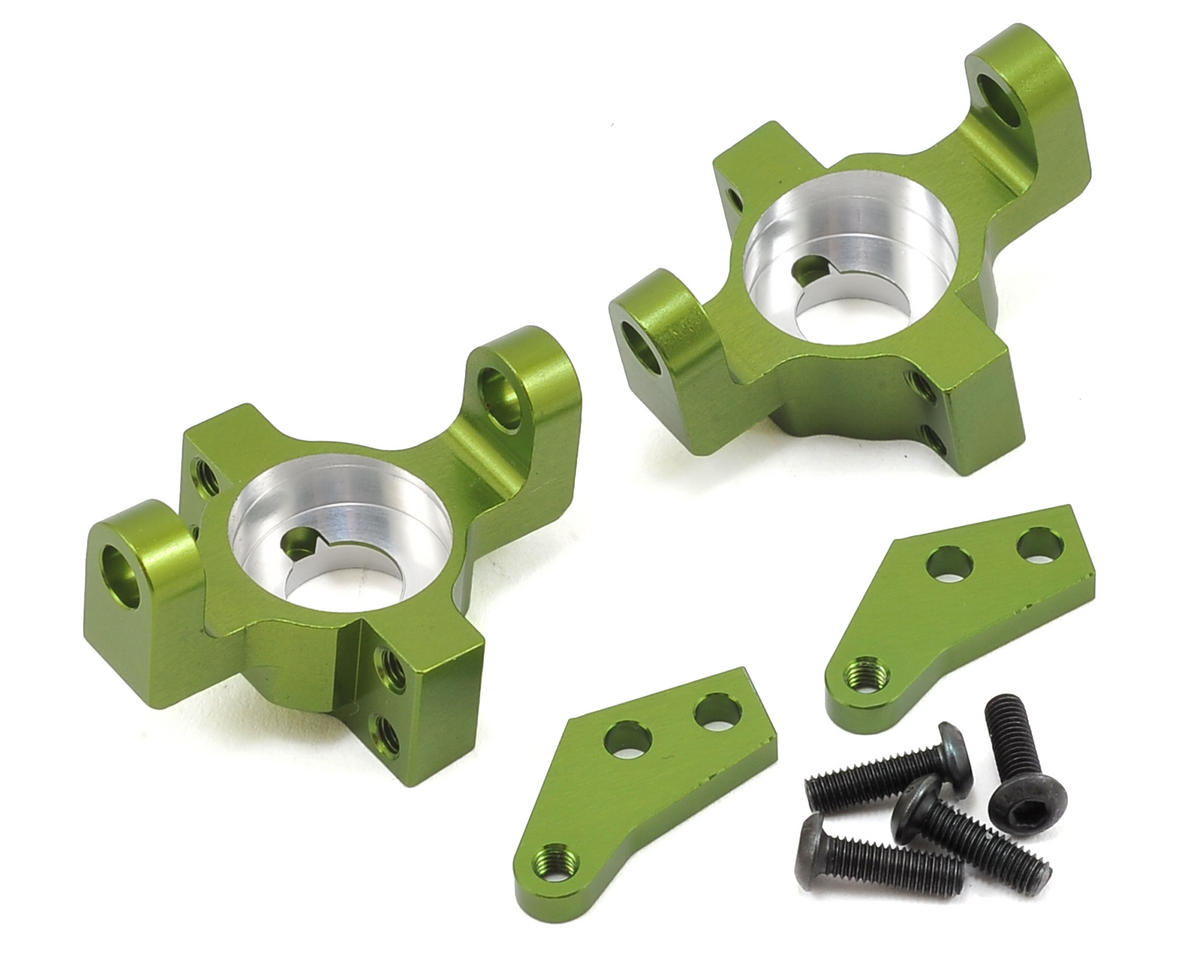 Wraith/RR10 Aluminum Steering Knuckle Set (2) (Green) by ST Racing Concepts