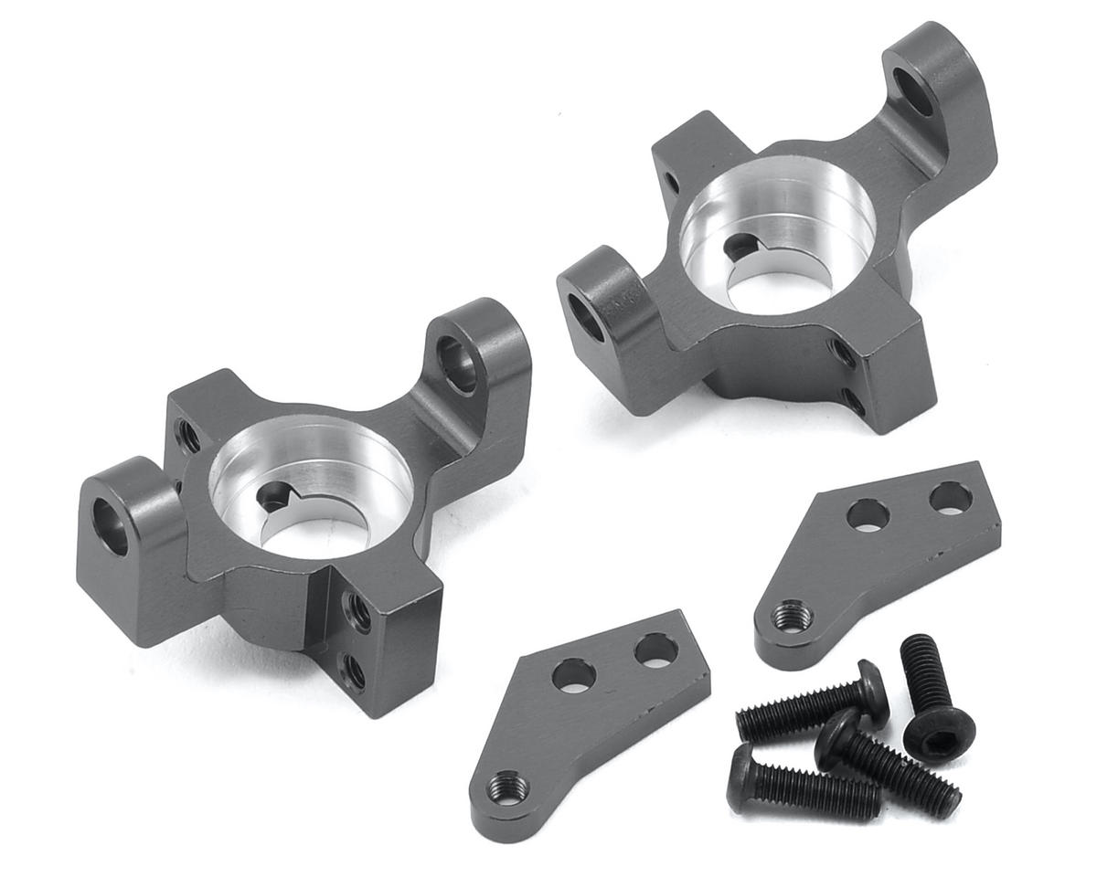 Wraith/RR10 Aluminum Steering Knuckle Set (2) (Gun Metal) by ST Racing Concepts