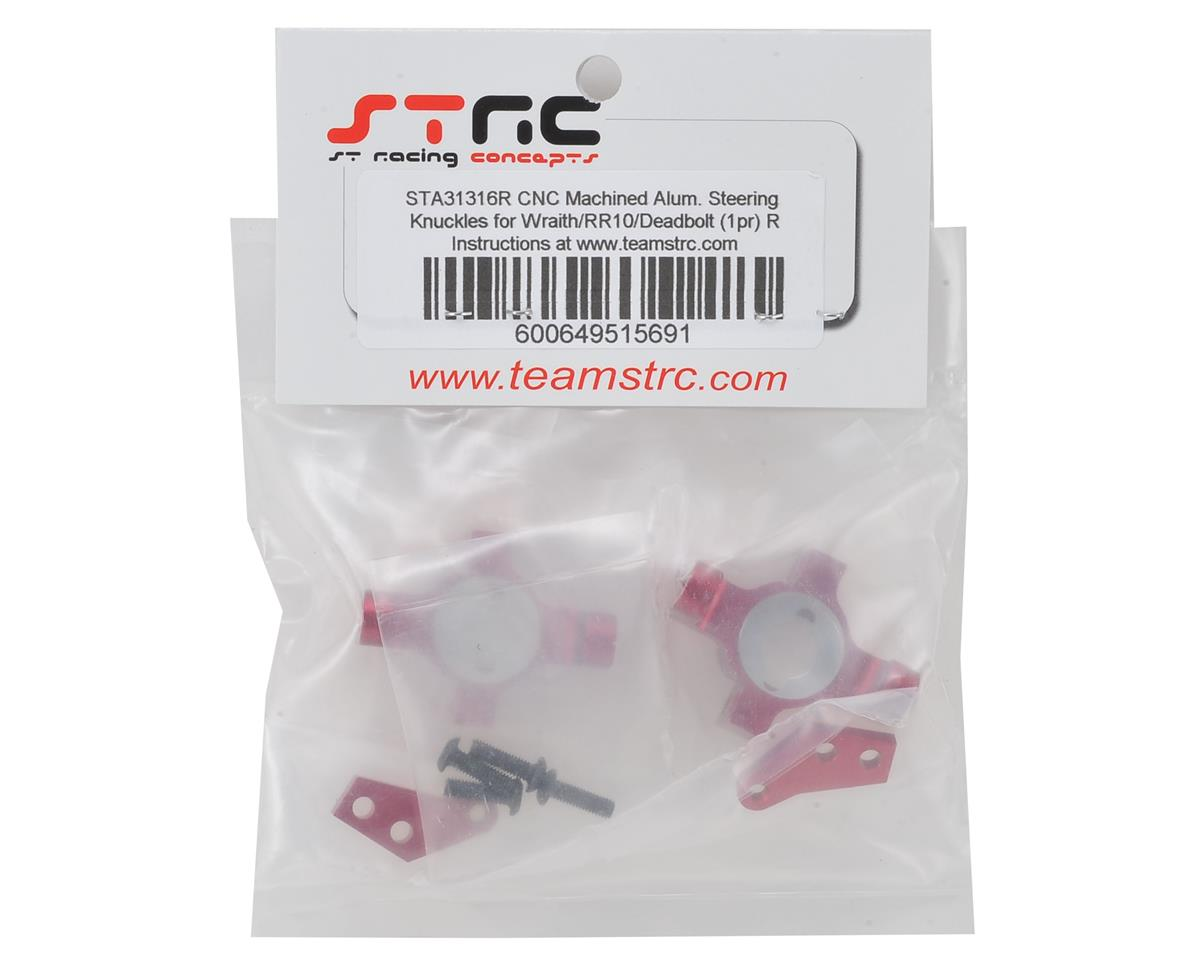 Wraith/RR10 Aluminum Steering Knuckle Set (2) (Red) by ST Racing Concepts