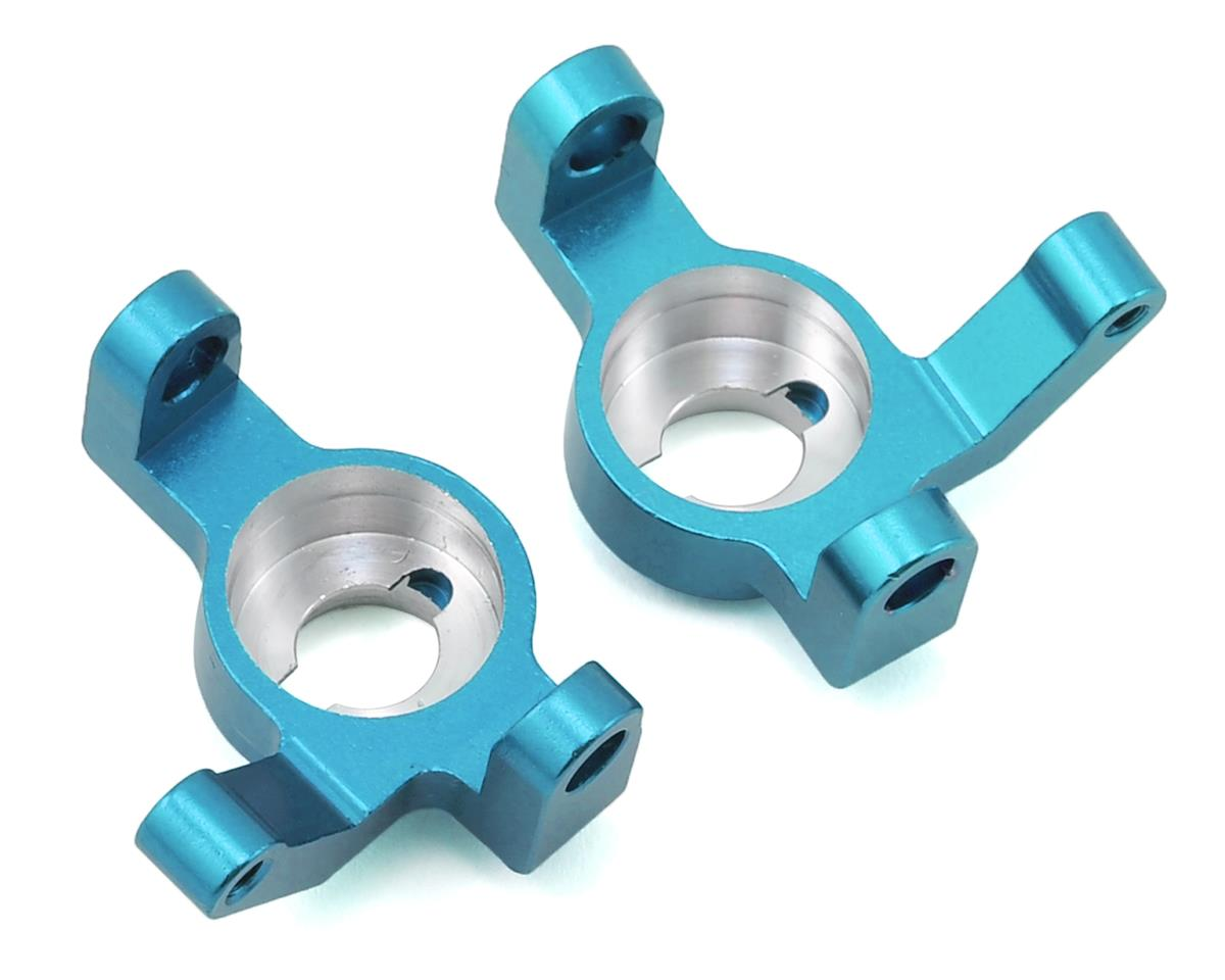 Wraith/RR10 Aluminum V2 Steering Knuckle Set (2) (Blue) by ST Racing Concepts