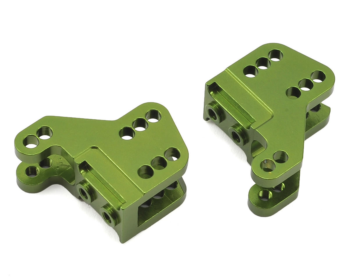 RR10/Wraith Aluminum Lower Shock Mount (2) (Green) by ST Racing Concepts