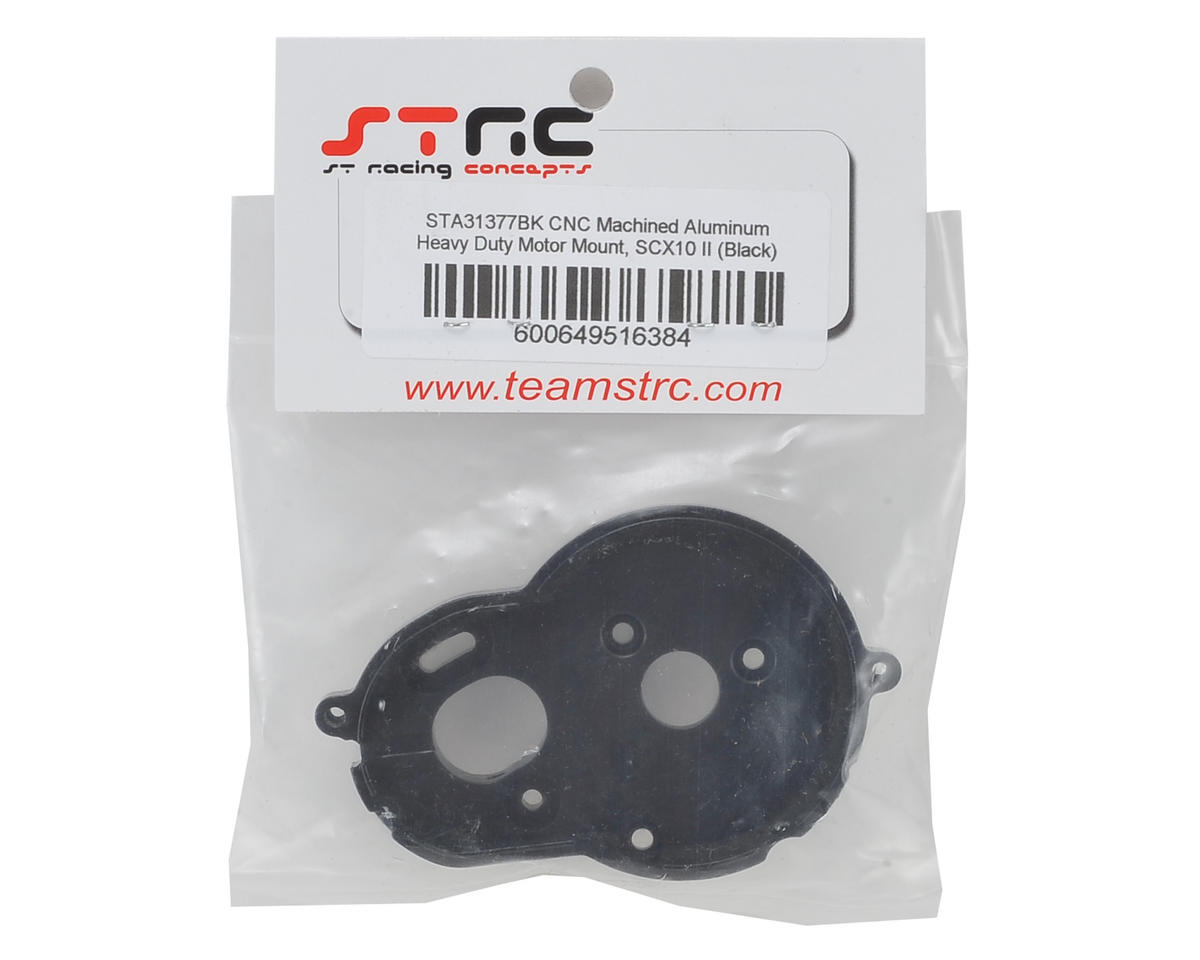 SCX10 II Aluminum One Piece Motor Mount (Black) by ST Racing Concepts