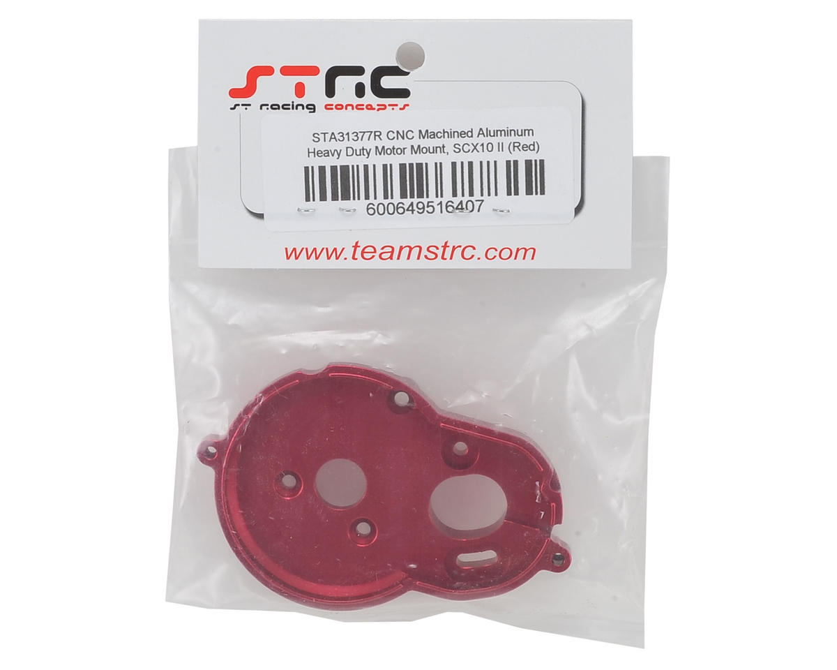 ST Racing Concepts SCX10 II Aluminum One Piece Motor Mount (Red)