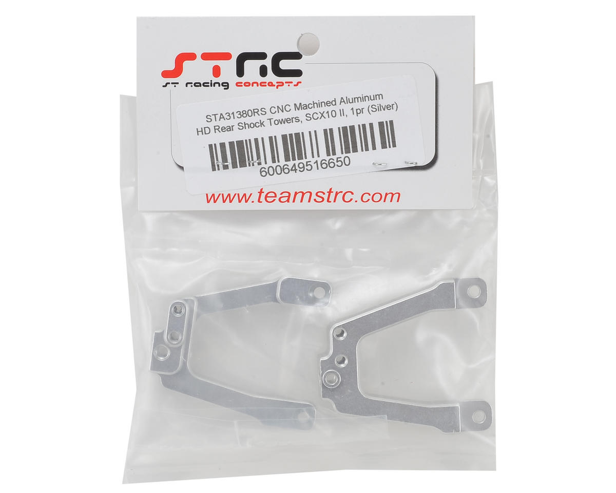 ST Racing Concepts SCX10 II Aluminum HD Rear Shock Towers (Silver)