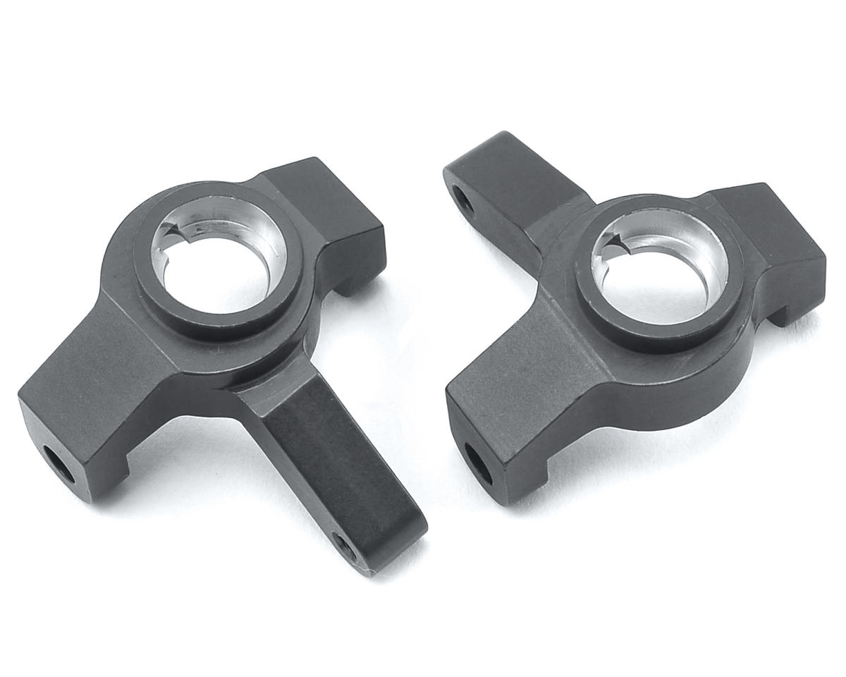 SCX10 II Aluminum Steering Knuckles (Gun Metal) by ST Racing Concepts