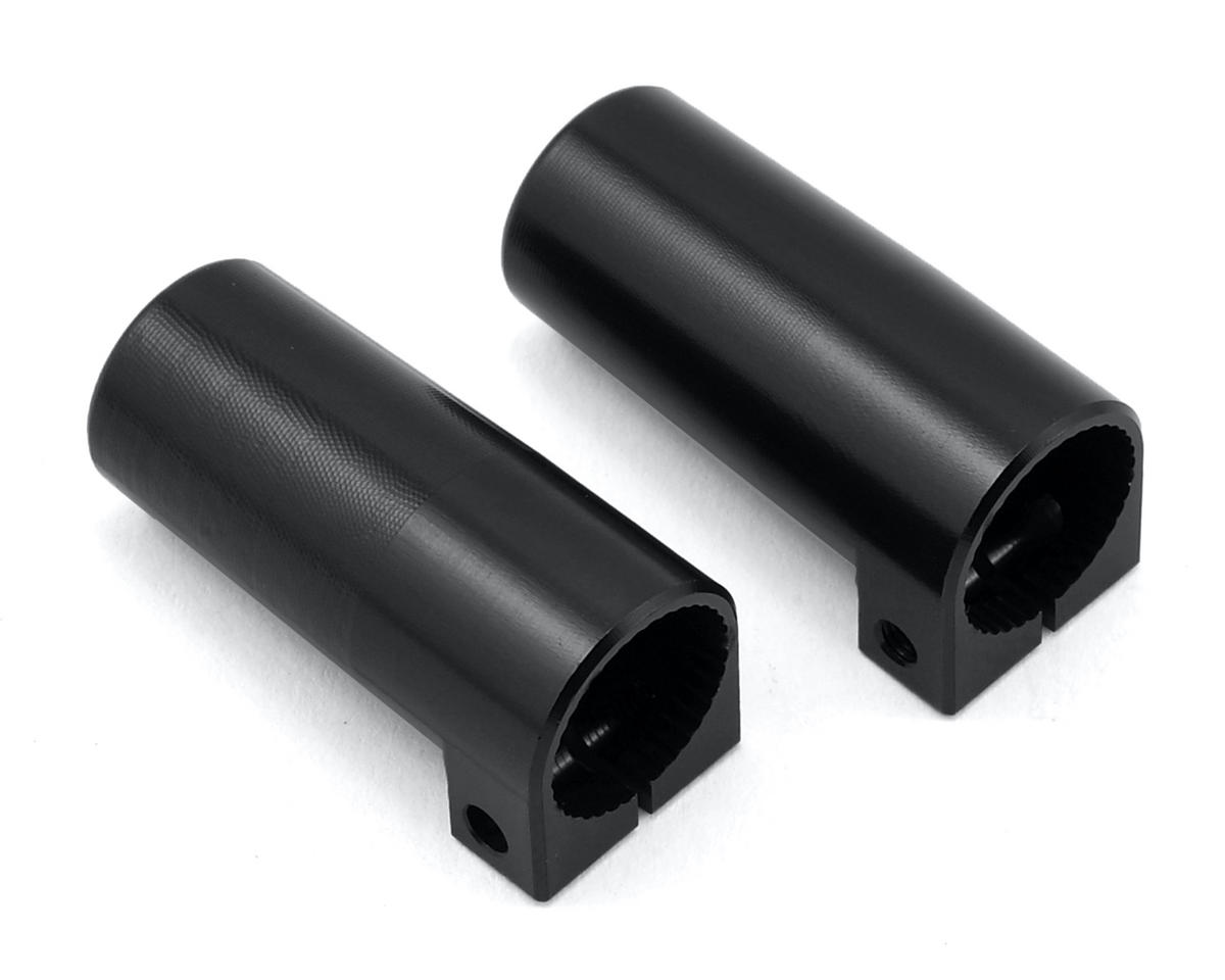 SCX10 II Aluminum Rear Lock Outs (2) (Black) by ST Racing Concepts