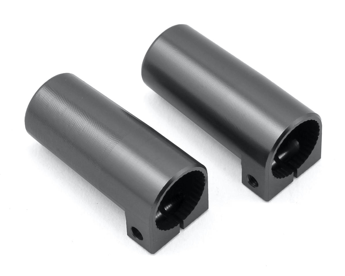 SCX10 II Aluminum Rear Lock Outs (2) (Gun Metal) by ST Racing Concepts