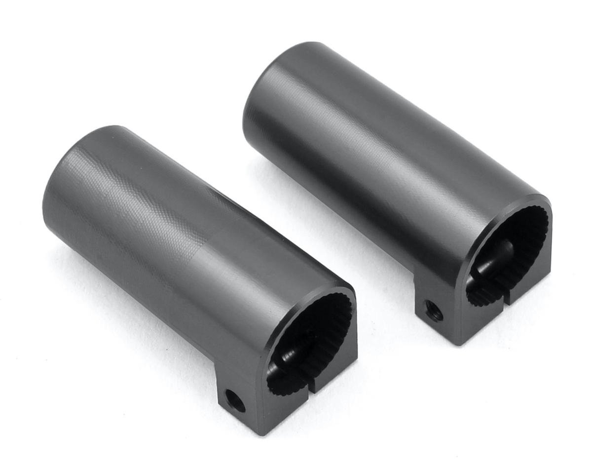 ST Racing Concepts SCX10 II Aluminum Rear Lock Outs (2) (Gun Metal)