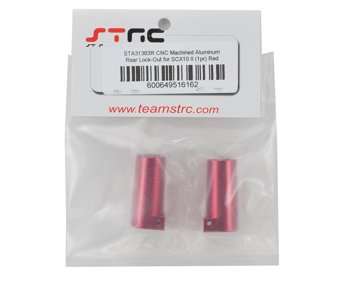 SCX10 II Aluminum Rear Lock Outs (2) (Red) by ST Racing Concepts