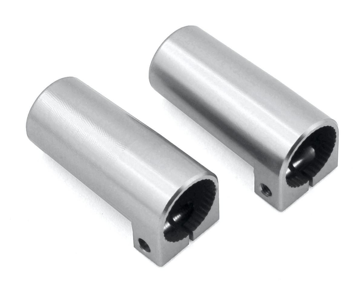 SCX10 II Aluminum Rear Lock Outs (2) (Silver) by ST Racing Concepts