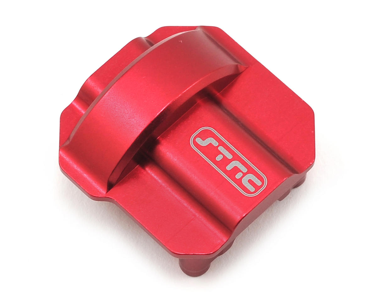 SCX10 II Aluminum Differential Cover (Red) by ST Racing Concepts
