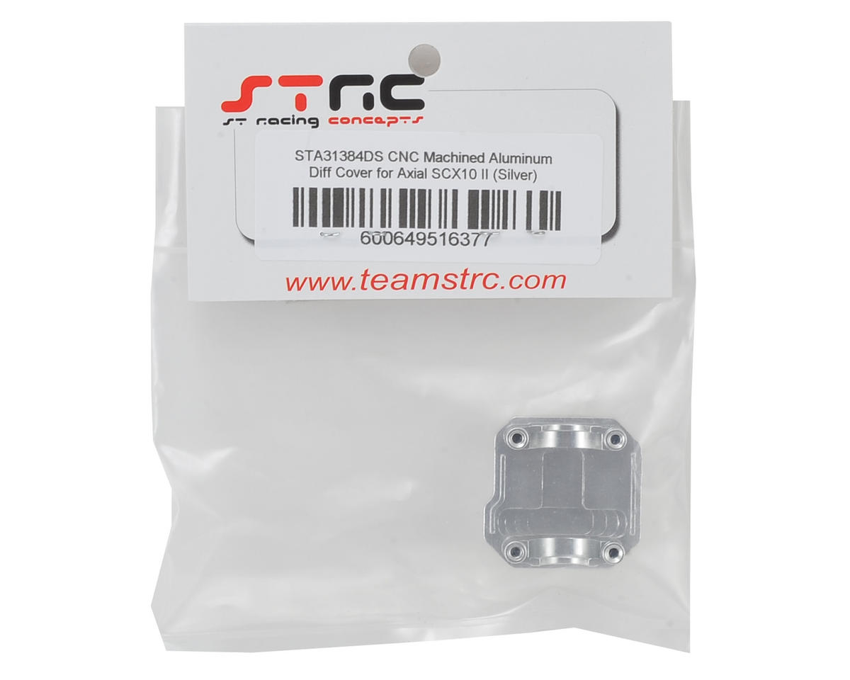 ST Racing Concepts SCX10 II Aluminum Differential Cover (Silver)