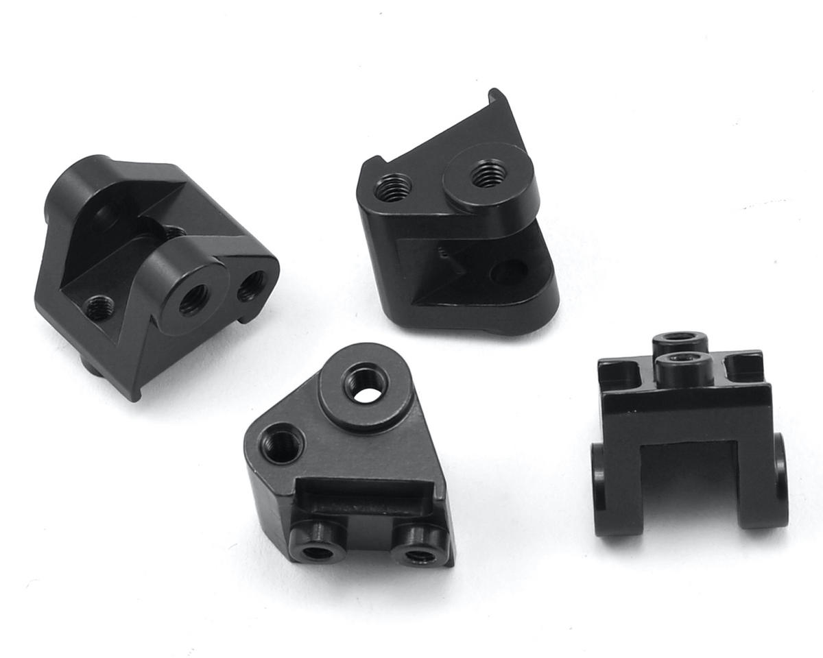 SCX10 II Aluminum Lower Shock/Link Mount (4) (Black) by ST Racing Concepts