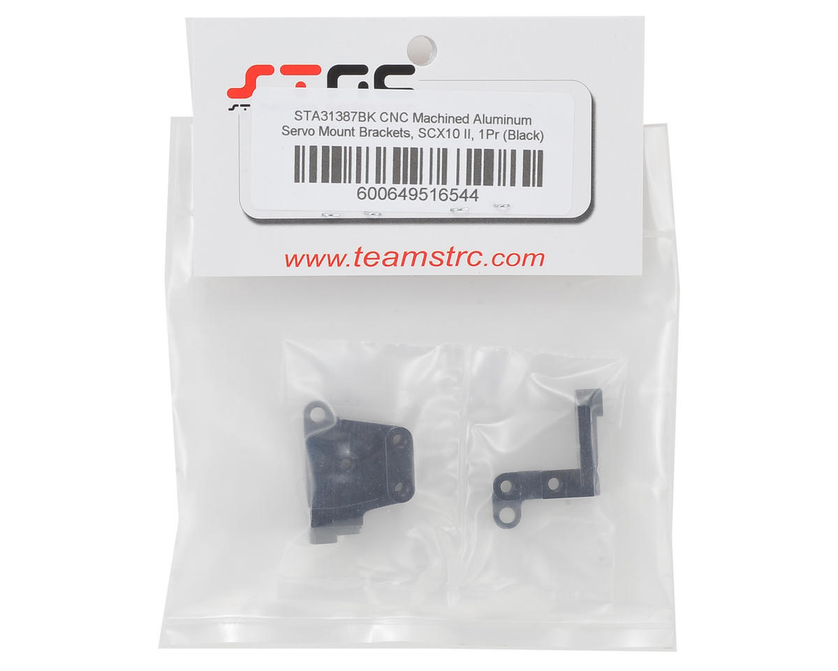 ST Racing Concepts SCX10 II Aluminum Servo Mount Brackets (Black)