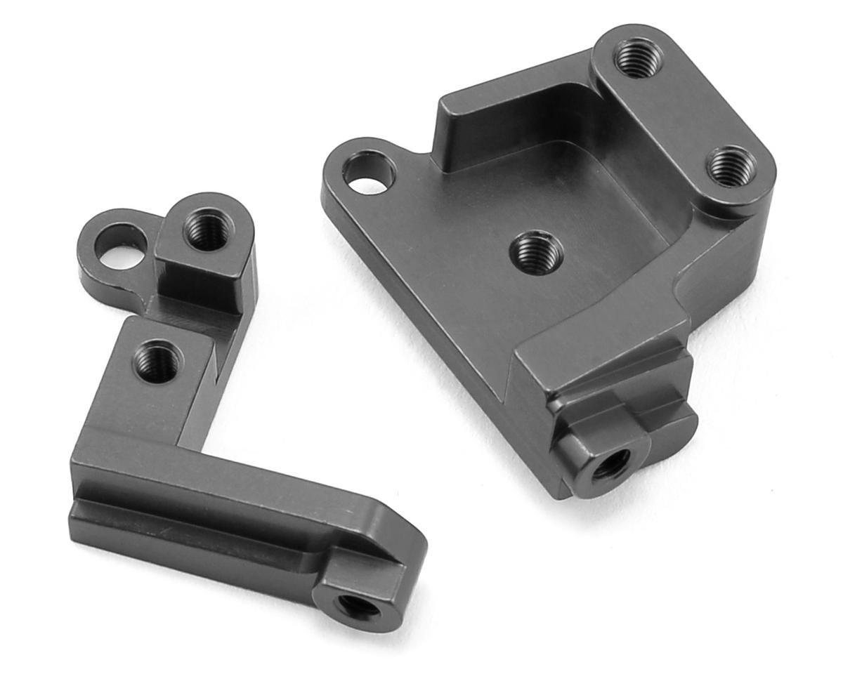 SCX10 II Aluminum Servo Mount Brackets (Gun Metal) by ST Racing Concepts