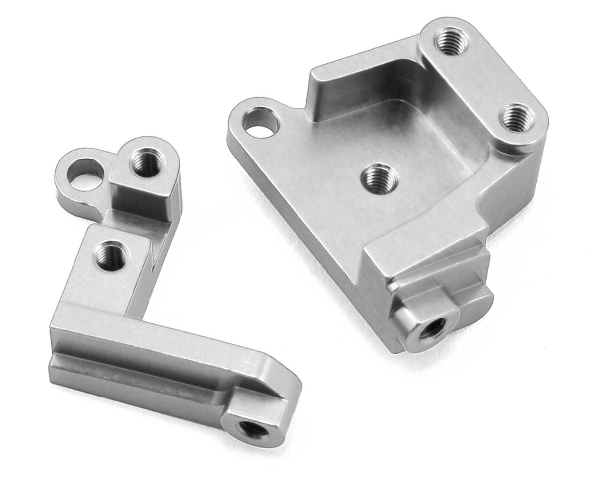 SCX10 II Aluminum Servo Mount Brackets (Silver) by ST Racing Concepts