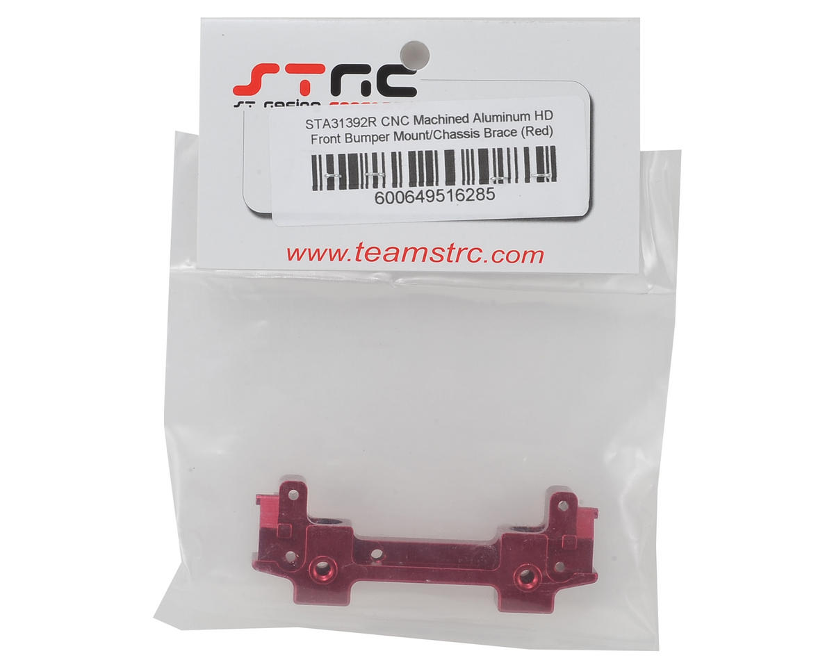 ST Racing Concepts SCX10 II Aluminum Front Bumper Mount/Chassis Brace (Red)