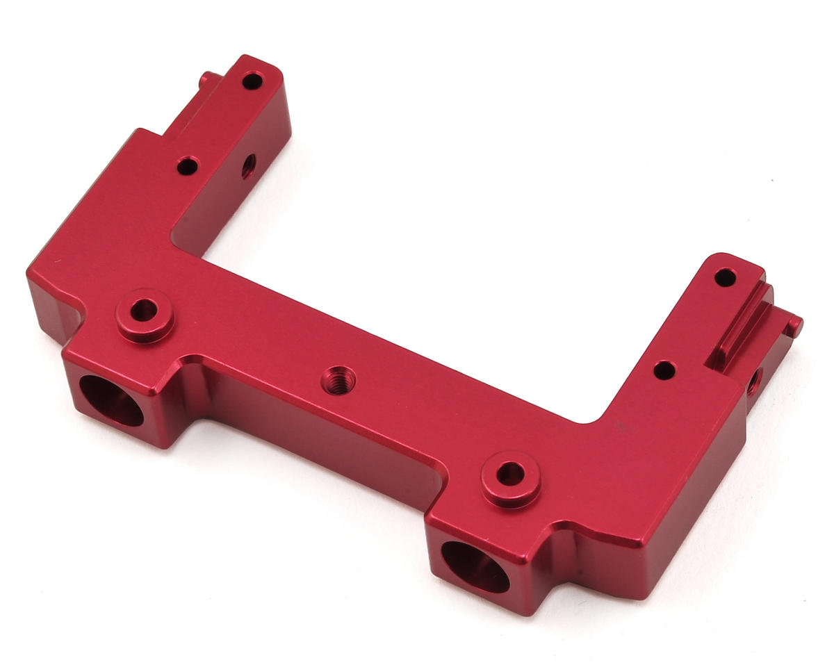 ST Racing Concepts SCX10 II Aluminum Rear Bumper Mount/Chassis Brace (Red)