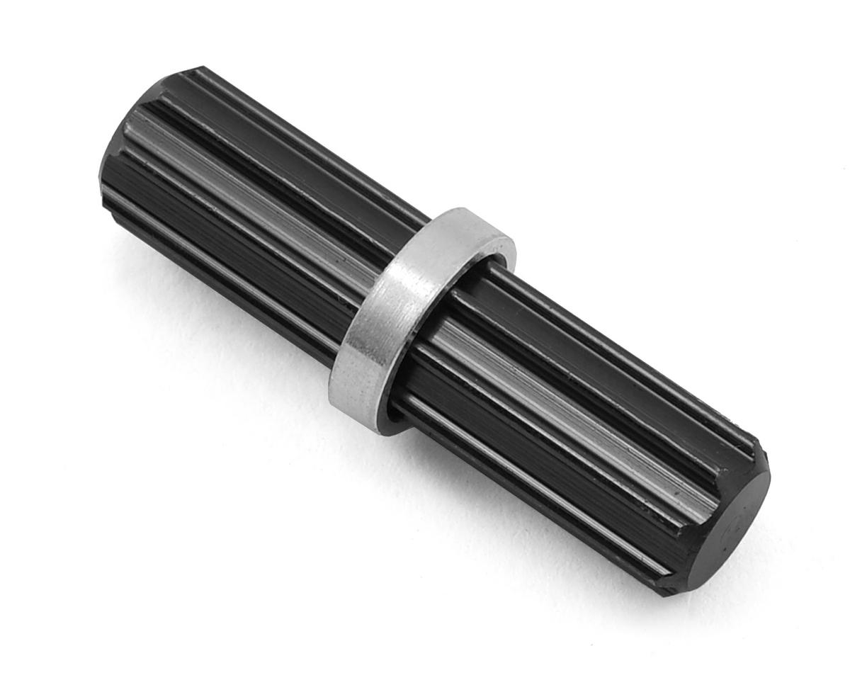 SCX10 II Aluminum Front Center Driveshaft Spline (Black) by ST Racing Concepts