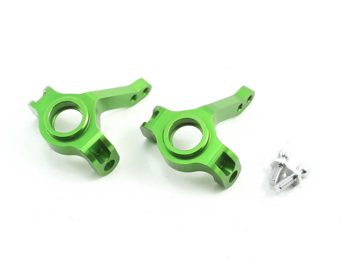 Aluminum Steering Knuckles (Green) (2) by ST Racing Concepts