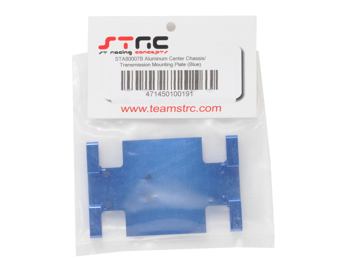 ST Racing Concepts Aluminum Center Transmission Mounting Plate (Blue)
