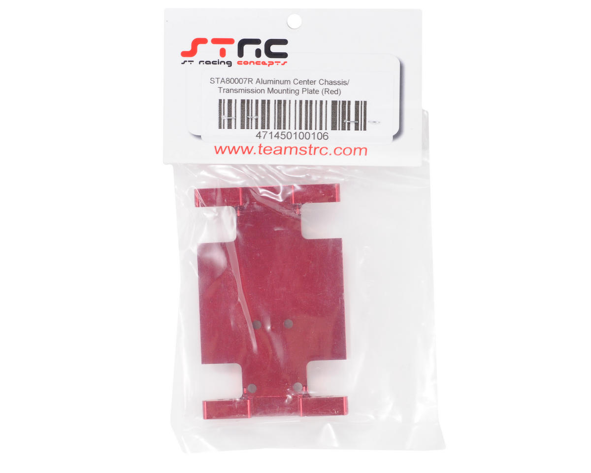 ST Racing Concepts Aluminum Center Transmission Mounting Plate (Red)